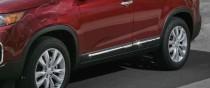 Хромированные молдинги дверей Киа Соренто 2 (хром накладки на двери Kia Sorento 2)