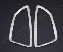 Хромированная окантовка на стопы Киа Соул 1 (хром накладки на стопы Kia Soul 1)