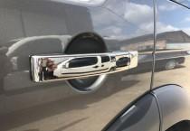 Хром накладки на ручки Ленд Ровер Фрилендер 2 (хромированные накладки на дверные ручки Land Rover Freelander 2)