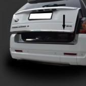 Хромированная кромка багажника Ленд Ровер Фрилендер 2 (хром нижняя кромка крышки багажника Land Rover Freelander 2)