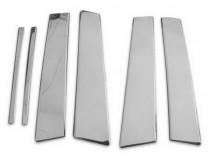 Хромированные молдинги дверных стоек Мерседес Е-Класс W210 (хром молдинги на стойки Mercedes E-Class W210)
