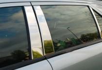 Omsa Line Хромированные молдинги дверных стоек Мерседес Е-Класс W211 (хром молдинги на стойки Mercedes E-Class W211)