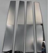 Хромированные молдинги дверных стоек Мерседес МЛ W164 (хром молдинги на стойки Mercedes ML W164)