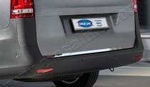 Хромированная кромка багажника Мерседес Вито W447 (хром нижняя кромка крышки багажника Mercedes Vito W447)