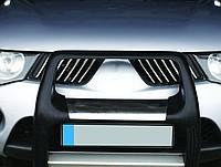 Хром накладки на решетку радиатора Митсубиси Л200 4 (хромированные накладки на решетку радиатора Mitsubishi L200 4)