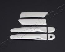 Omsa Line Хром накладки на ручки Ниссан Жук (хромированные накладки на дверные ручки Nissan Juke)