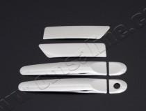 Хром накладки на ручки Ниссан Микра К13 (хромированные накладки на дверные ручки Nissan Micra K13)
