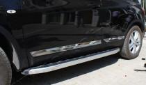 Хромированные молдинги дверей Ниссан Кашкай 1 (хром накладки на двери Nissan Qashqai 1)