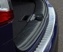 Хром накладка на задний бампер Ниссан Кашкай 2 (хромированная накладка заднего бампера Nissan Qashqai 2)