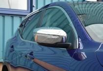 Хром накладки на зеркала Ниссан Кашкай 2 (хромированные накладки на боковые зеркала Nissan Qashqai 2)