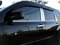 Хромированные молдинги дверных стоек Ниссан Х-Трейл Т31 (хром молдинги на стойки Nissan X-Trail T31)