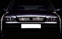 Купить хром накладки на радиаторную решетку Opel Astra G (хром м