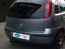 Хром ручка двери багажника Опель Корса С (хромированная дверная ручка на багажник Opel Corsa C)
