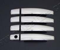 Хром накладки на ручки Опель Корса Д (хромированные накладки на дверные ручки Opel Corsa D)