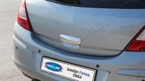 Хром ручка двери багажника Опель Корса Д (хромированная дверная ручка на багажник Opel Corsa D)