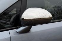 Хром накладки на зеркала Опель Корса Д (хромированные накладки на боковые зеркала Opel Corsa D)