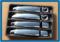 Хром накладки на ручки Опель Мовано Б (хромированные накладки на дверные ручки Opel Movano B)