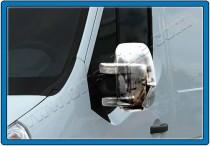 Хром накладки на зеркала Опель Мовано Б (хромированные накладки на боковые зеркала Opel Movano B)