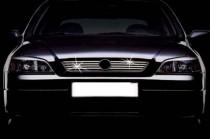 Хром накладки на решетку радиатора Опель Зафира А (хромированные накладки на решетку радиатора Opel Zafira A)