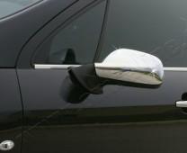 Хром накладки на зеркала Пежо 307 (хромированные накладки на боковые зеркала Peugeot 307)