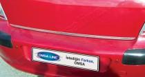 Хромированная кромка багажника Пежо 308 1 (хром нижняя кромка крышки багажника Peugeot 308 1)