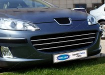 Omsa Line Хром накладки на решетку радиатора Пежо 407 (хромированные накладки на решетку радиатора Peugeot 407)