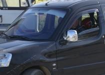 Хром накладки на зеркала Пежо Партнер 1 (хромированные накладки на боковые зеркала Peugeot Partner 1)