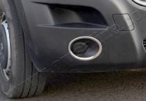 Хромированная окантовка противотуманных фар Рено Мастер 3 (хром накладки на противотуманные фары Renault Master 3)