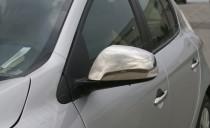 Хром накладки на зеркала Рено Меган 3 (хромированные накладки на боковые зеркала Renault Megane 3)