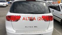 Матовая накладка на задний бампер Сеат Алтея XL (матированная накладка заднего бампера Seat Altea XL)
