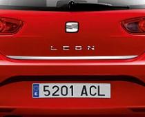 Хромированная кромка багажника Сеат Леон 3 (хром нижняя кромка крышки багажника Seat Leon 3)
