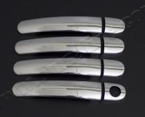 Хром накладки на ручки Сеат Толедо 2 (хромированные накладки на дверные ручки Seat Toledo 2)