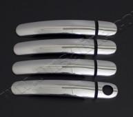 Хром накладки на ручки Шкода Фабия 1 (хромированные накладки на дверные ручки Skoda Fabia 1)