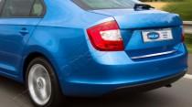 Хромированная кромка багажника Шкода Рапид (хром нижняя кромка крышки багажника Skoda Rapid)
