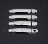 Хром накладки на ручки Тойота Авенсис 2 (хромированные накладки на дверные ручки Toyota Avensis 2)