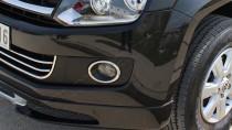 Хромированная окантовка противотуманных фар Фольксваген Амарок (хром накладки на противотуманные фары Volkswagen Amarok)