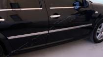 Хромированные молдинги дверей Фольксваген Бора (хром накладки на двери Volkswagen Bora)