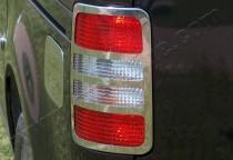 Хром накладки на задние стопы Фольксваген Кадди (хром окантовка