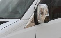 Хром накладки на зеркала Фольксваген Крафтер 1 (хромированные накладки на боковые зеркала Volkswagen Crafter 1)