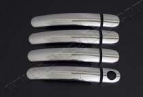 Хром накладки на ручки Фольксваген Гольф 4 (хромированные накладки на дверные ручки Volkswagen Golf 4)