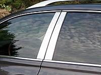 Хромированные молдинги дверных стоек Фольксваген Джетта 5 (хром молдинги на стойки Volkswagen Jetta 5)