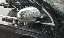 Хром накладки на зеркала Фольксваген Пассат Б6 (хромированные накладки на боковые зеркала Volkswagen Passat B6)