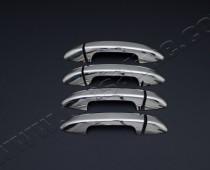 Хром накладки на ручки Фольксваген Пассат СС (хромированные накладки на дверные ручки Volkswagen Passat CC)