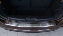 Матовая накладка на задний бампер Фольксваген Шаран 2 (матированная накладка заднего бампера Volkswagen Sharan 2)