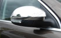 Хром накладки на зеркала Фольксваген Шаран 2 (хромированные накладки на боковые зеркала Volkswagen Sharan 2)