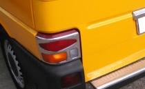 Хромированная окантовка на стопы Фольксваген Транспортер Т4 (хром накладки на стопы Volkswagen Transporter T4)
