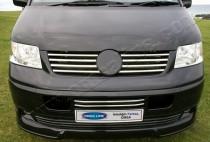 Хром накладки на решетку радиатора Фольксваген Транспортер Т5 (хромированные накладки на решетку Volkswagen Transporter T5)