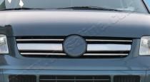 Хром накладки на решетку радиатора Volkswagen Transporter T5 (хромированные накладки на решетку радиатора Фольксваген Транспорте