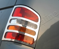 Хромированная окантовка на стопы Volkswagen Transporter T5 (хром накладки на стопы Фольксваген Транспортер Т5)