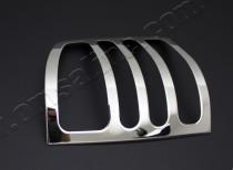 Хромированная окантовка на стопы Фольксваген Т5 рестайл (хром накладки на стопы Volkswagen T5)